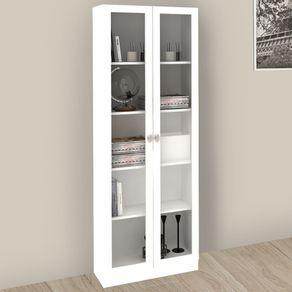 Armario-com-porta-de-vidro-ME4115-Tecno-Mobili-Branco