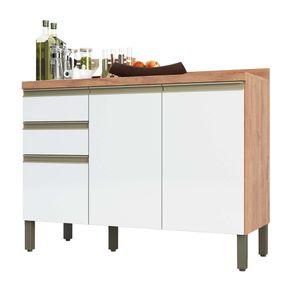Balcao-de-Cozinha-120cm-3-Portas-2-Gavetas-100--MDF-Chardonn