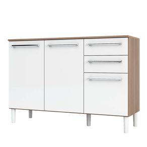 Balcao-de-Cozinha-120cm-3-Portas-2-Gavetas-100--MDF-Carmener